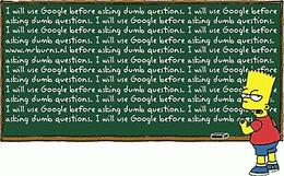 i will ask google before asking stupid questions
